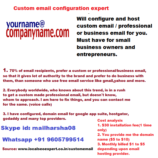 Custom email configuration expert