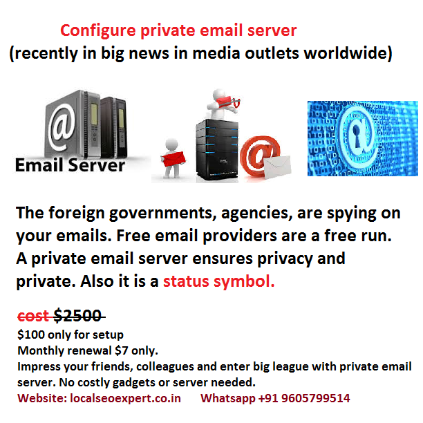 private email server setup freelancer hire