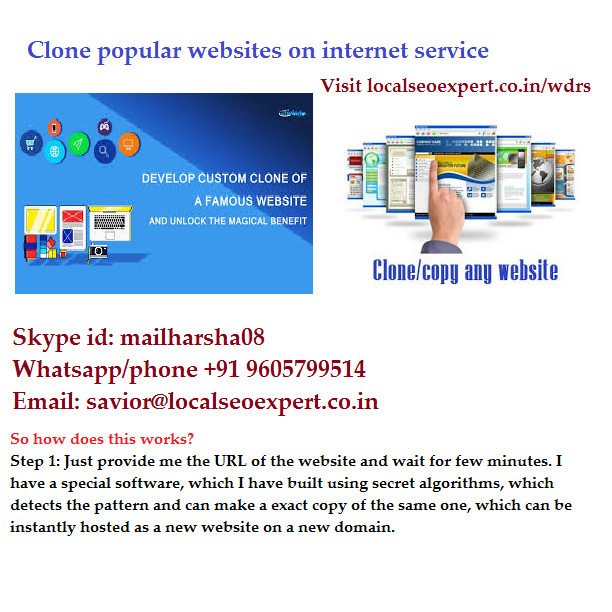 clone copy website service