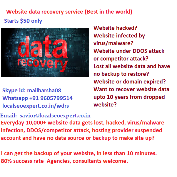 website data recovery service