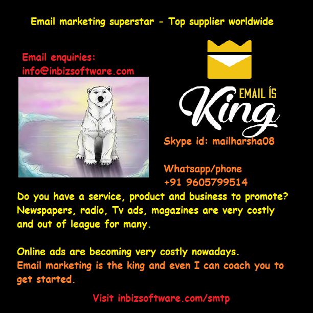 Email marketing punter  Dedicated Smtp server to send unlimited